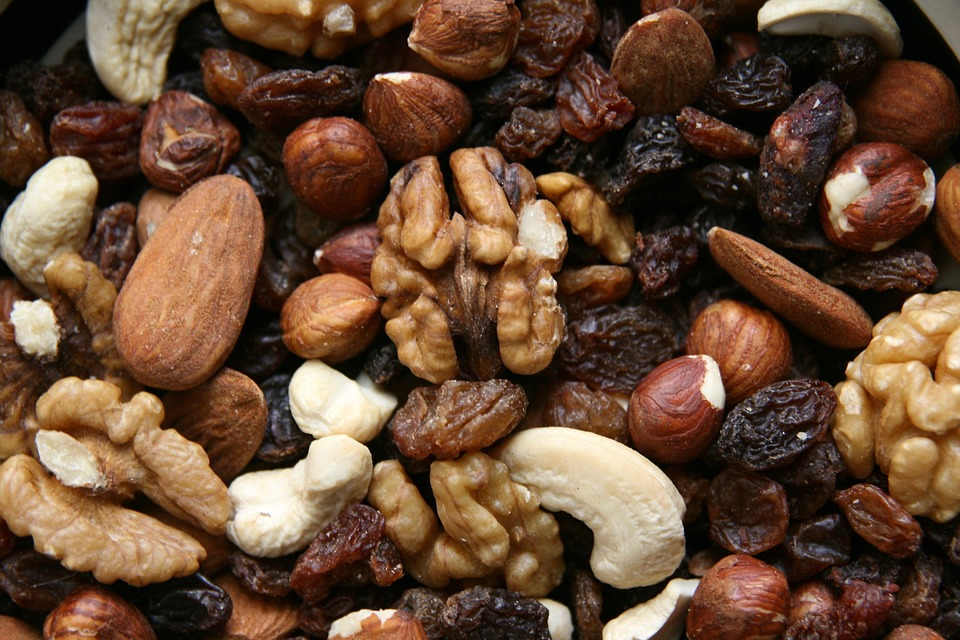 A simple trail mix of nuts and seeds